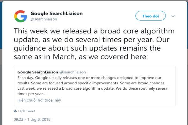 google cập nhật